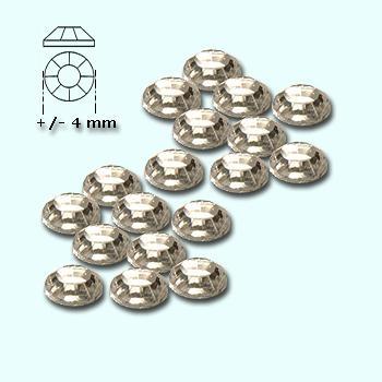 Strass-stenen S 16 helder (silver back) ca 300 stuks