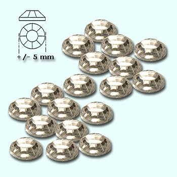 Strass-stenen S 20 helder (silver back) ca 150 stuks