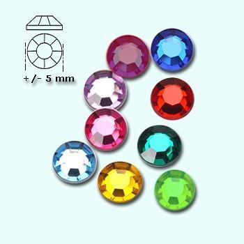 Strass-stenen S 20 diverse kleuren ca 150 stuks