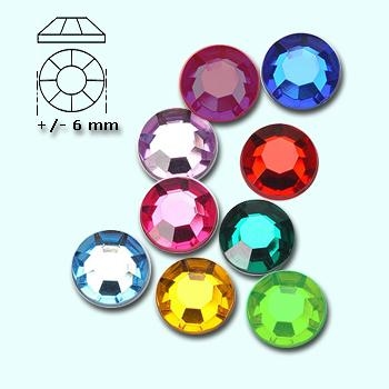 Strass-stenen S 30 diverse kleuren ca 80 stuks