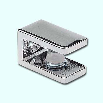 Glasplaatdrager, Zink MAT verchroomd, Per stuk