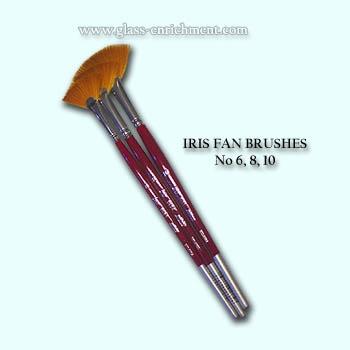 Set van 3 Iris fan brush, no. 06 - 08 - 10