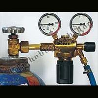 Zuurstof drukregelaar met manometers