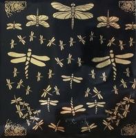 Gold decal Libellen