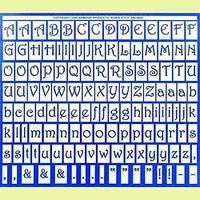 Ätzmuster große Alphabet