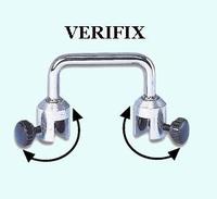 VERIFIX klemhouder voor glasdikten 3 - 10 mm