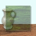 Glass Art Film, Mid Olive Grain 46 cm x 33 cm