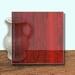Glass Art Film, Dark Red Grain 46 cm x 33 cm