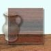 Glass Art Film, Mid Brown Grain 46 cm x 33 cm