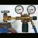 Oxygen pressure regulator and manometer